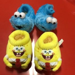 toddlers slippers size 5-6 two pairs and set